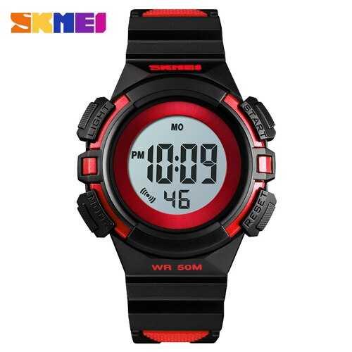 Jam Tangan Anak Digital LED Original SKMEI DG1485 Merah