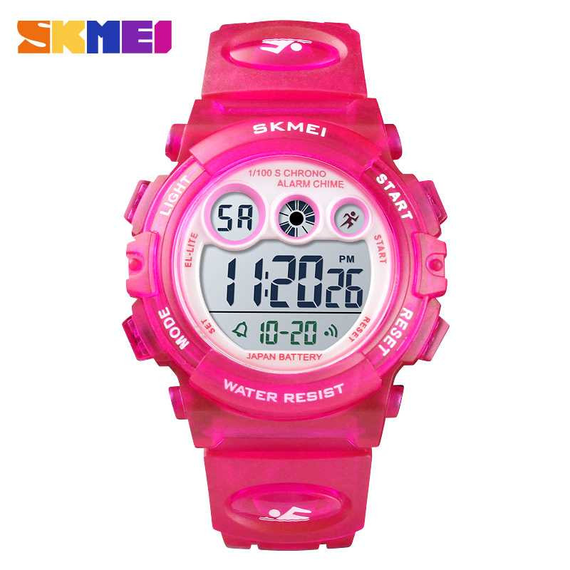Jam Tangan Anak SKMEI Children Sport LED Watch DG1451 Rose