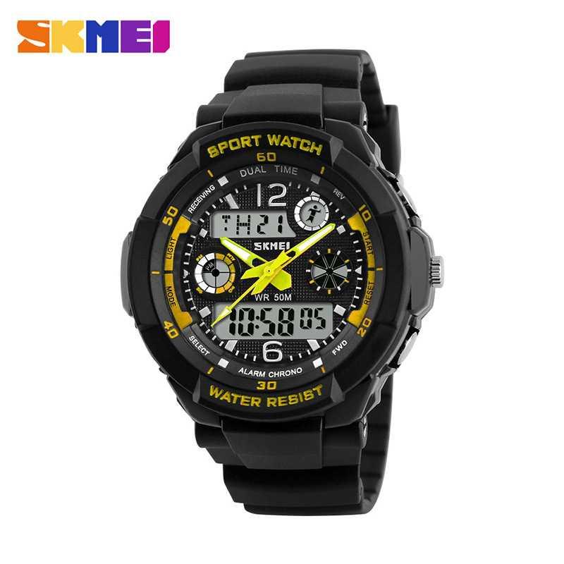 Jam Tangan Anak Dual Time SKMEI AD1060 Kuning