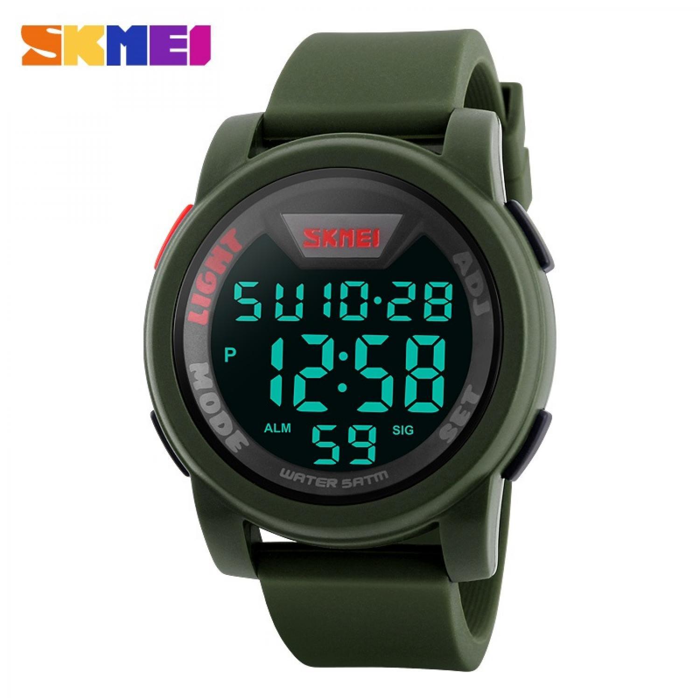 Jam Tangan Pria Digital SKMEI Sport LED Watch Original DG1218 Army
