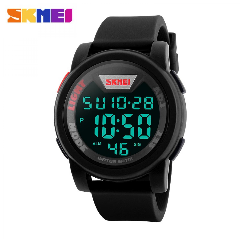 Jam Tangan Pria Digital SKMEI Sport LED Watch Original DG1218