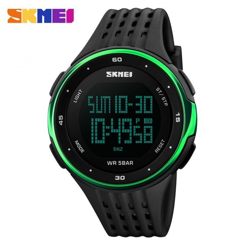 Jam Tangan Pria Digital SKMEI Sport LED Watch Original DG1219 Hijau