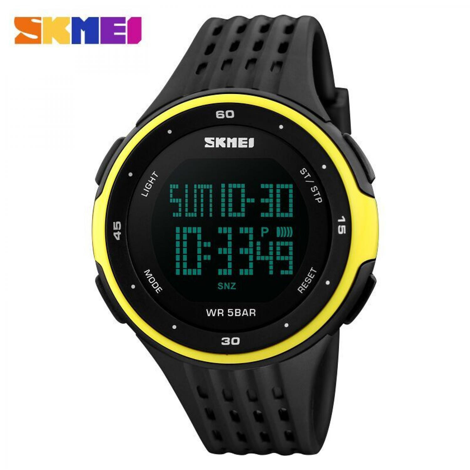 Jam Tangan Pria Digital SKMEI Sport LED Watch Original DG1219 Kuning