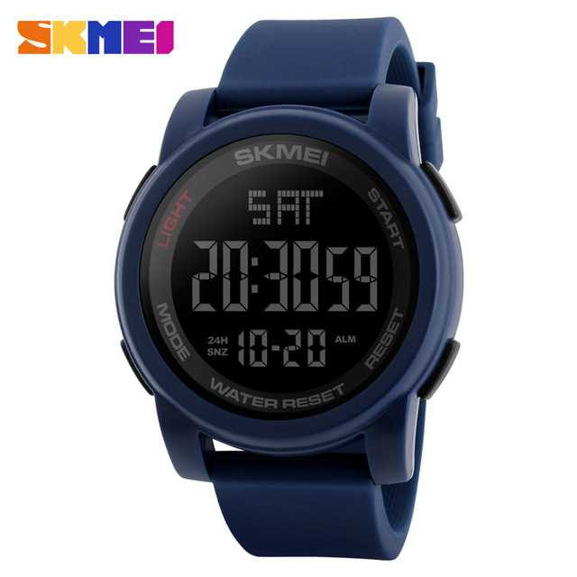Jam Tangan Pria Digital SKMEI Sport LED Watch Original DG1257 Biru