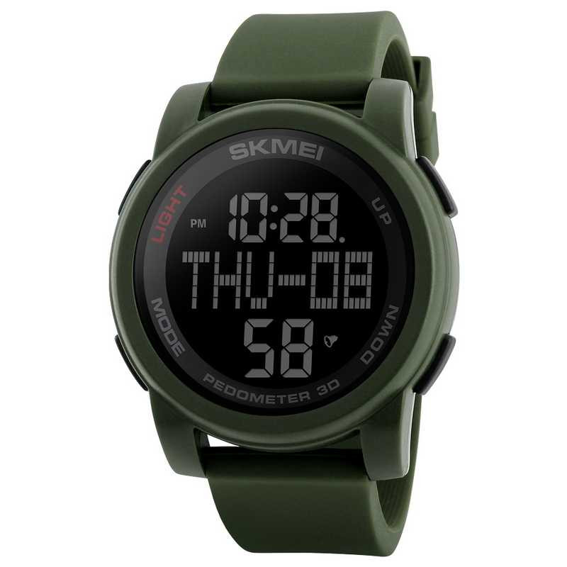 Jam Tangan Pria Digital SKMEI Sport LED Watch Original DG1317 Army