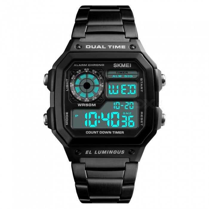 Jam Tangan Pria Digital SKMEI Sport LED Watch Original DG1335
