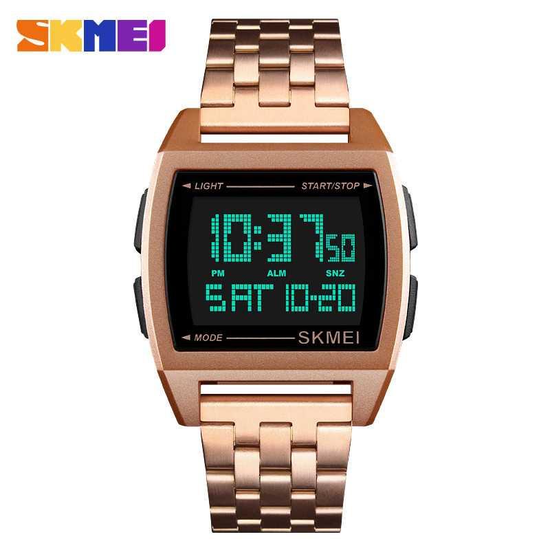 Jam Tangan Pria Digital SKMEI Sport LED Watch Original DG1368 Rose