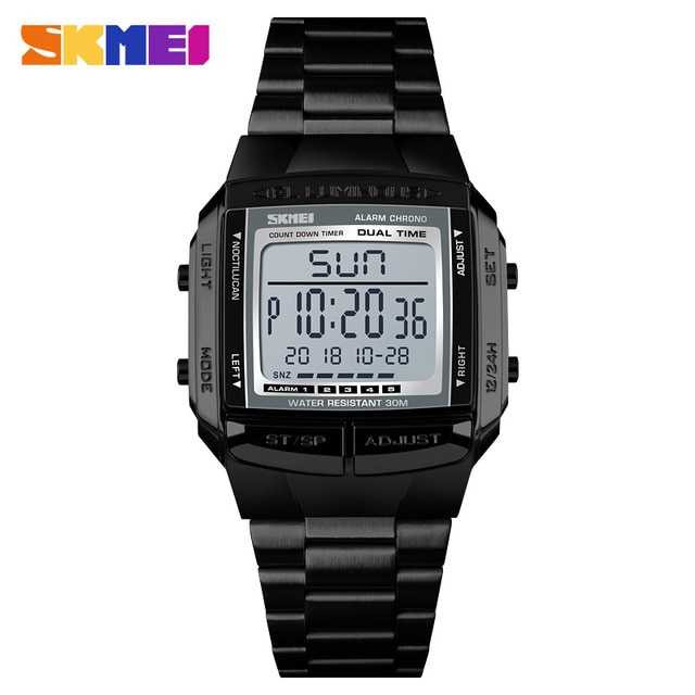 Jam Tangan Pria Digital SKMEI Sport LED Watch Original DG1381