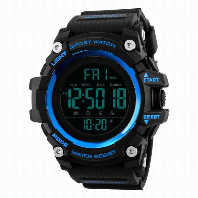 Jam Tangan Pria Digital SKMEI Sport LED Watch Original DG1384 Biru