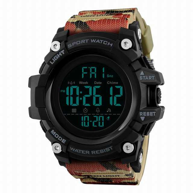 Jam Tangan Pria Digital SKMEI Sport LED Watch Original DG1384 Camouflage