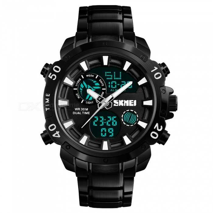 Jam Tangan Pria Dual Time SKMEI Casio Men Sport LED Original AD1306