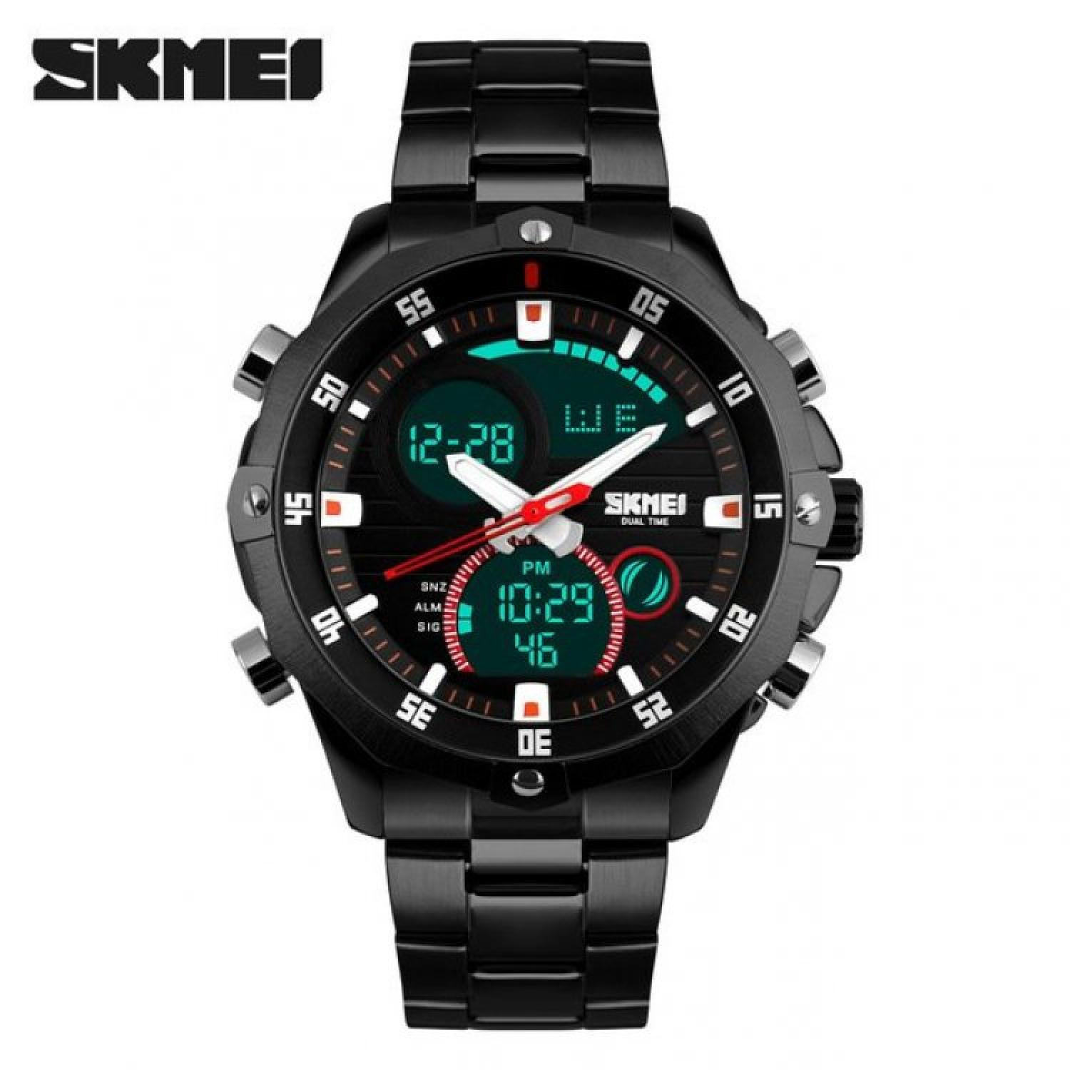 Jam Tangan Pria Dual Time SKMEI Men Sport LED Original AD1146