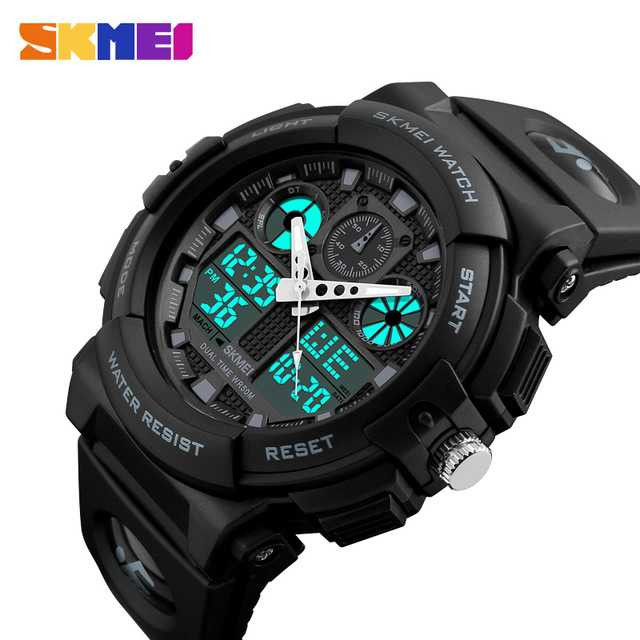 Jam Tangan Pria Dual Time SKMEI Sport LED Watch Original AD1270