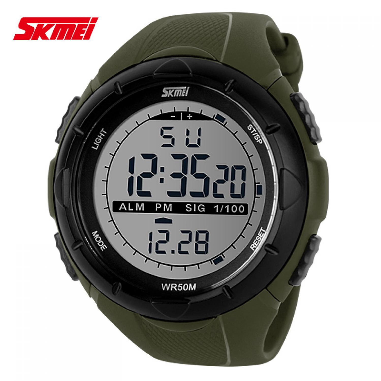 Jam Tangan Pria LED SKMEI S-Shock Sport Watch Original DG1025 Army