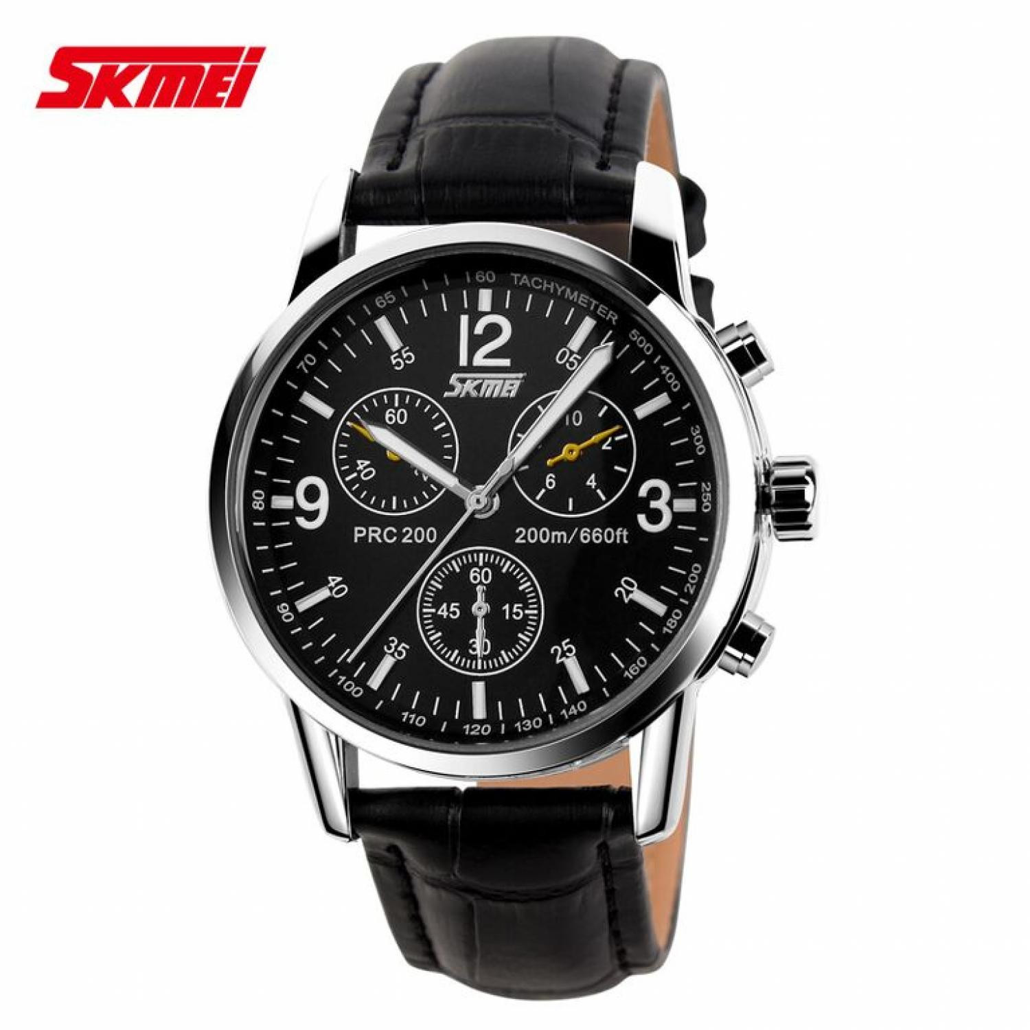 86e55c8249a Jam Tangan Pria SKMEI Analog Casual Leather Strap Original 9070CL