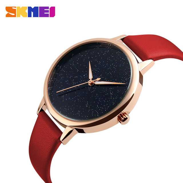 Jam Tangan Wanita SKMEI Analog Casual Leather Watch Original 9141CL