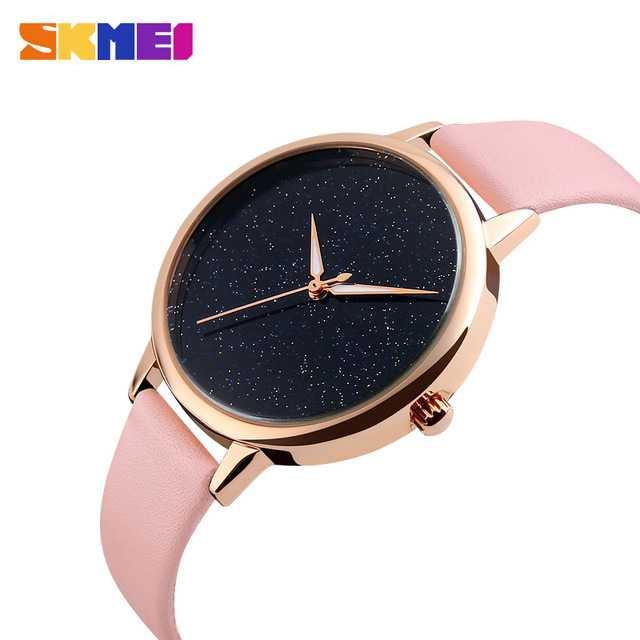 Jam Tangan Wanita SKMEI Analog Casual Leather Watch Original 9141CL Pink