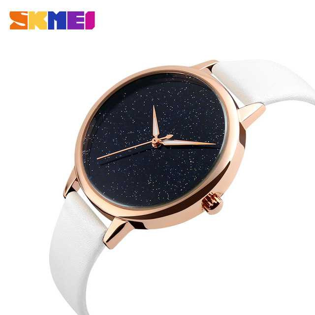 Jam Tangan Wanita SKMEI Analog Casual Leather Watch Original 9141CL Putih