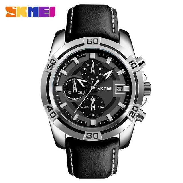 Jam Tangan Pria SKMEI Analog Casual Men Leather Watch Original 9156