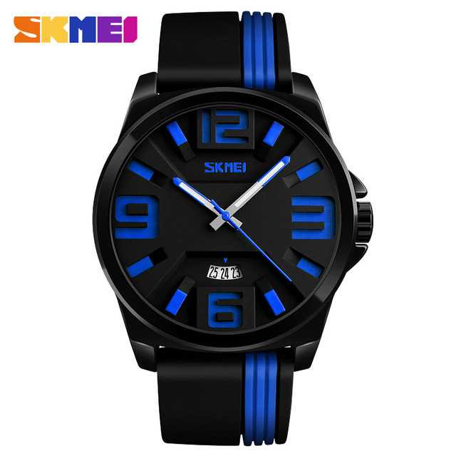 Jam Tangan Pria SKMEI Analog Casual Men Leather Watch Original 9171CL Biru
