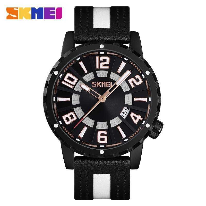 Jam Tangan Pria SKMEI Analog Casual Men Leather Watch Original 9202CL