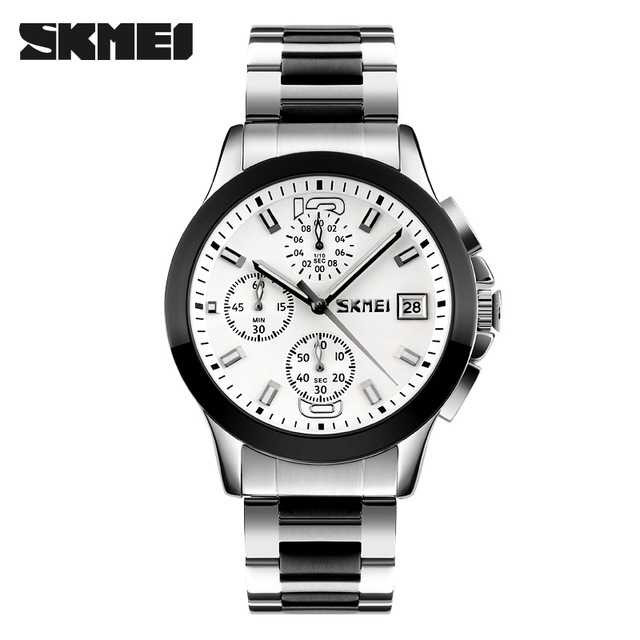 Jam Tangan Pria SKMEI Analog Casual Men Stainless Original 9126S