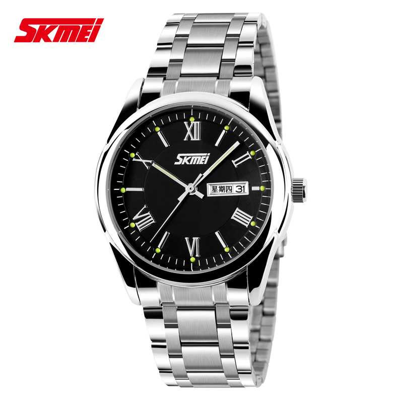Jam Tangan Pria SKMEI Analog Casual Men Stainless Strap Original 9056CS Hitam