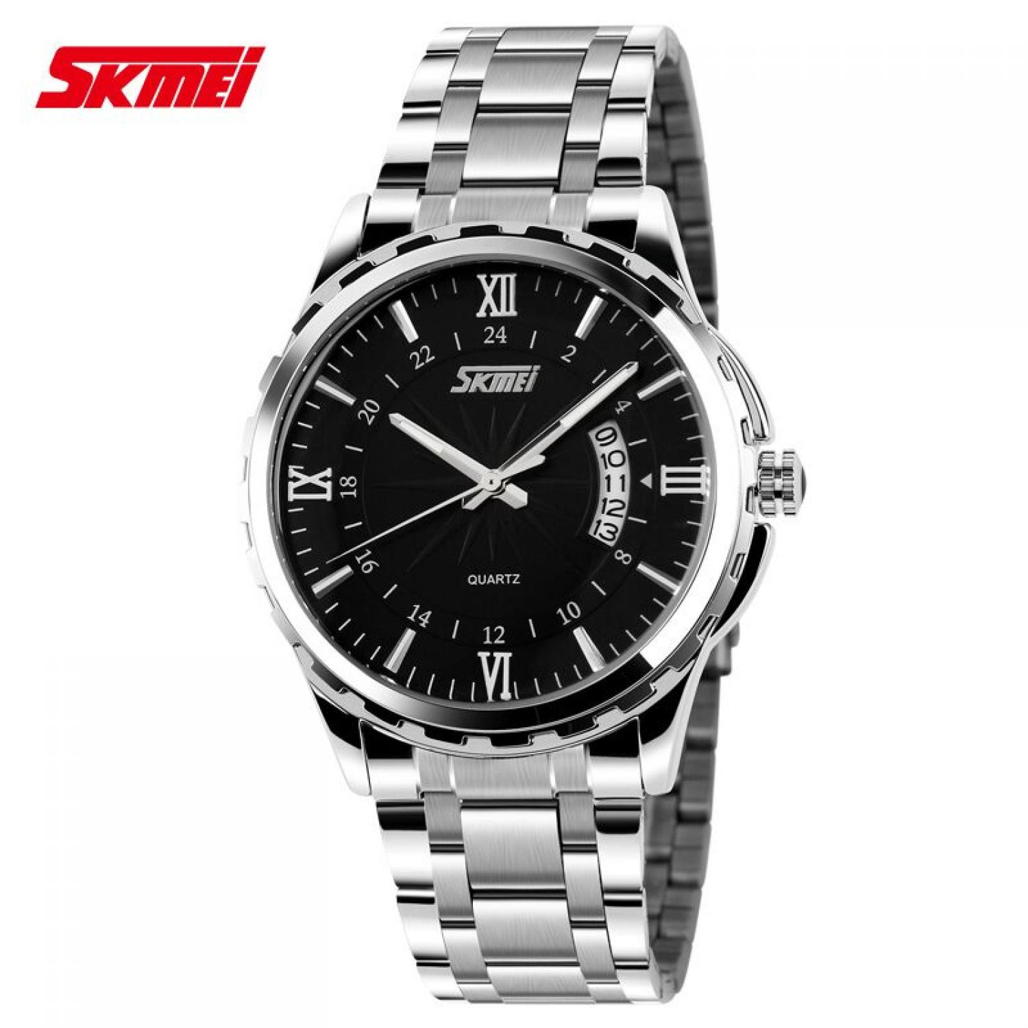 08cd05a5ff8 Jam Tangan Pria SKMEI Analog Casual Men Stainless Strap Original 9069CS  Hitam