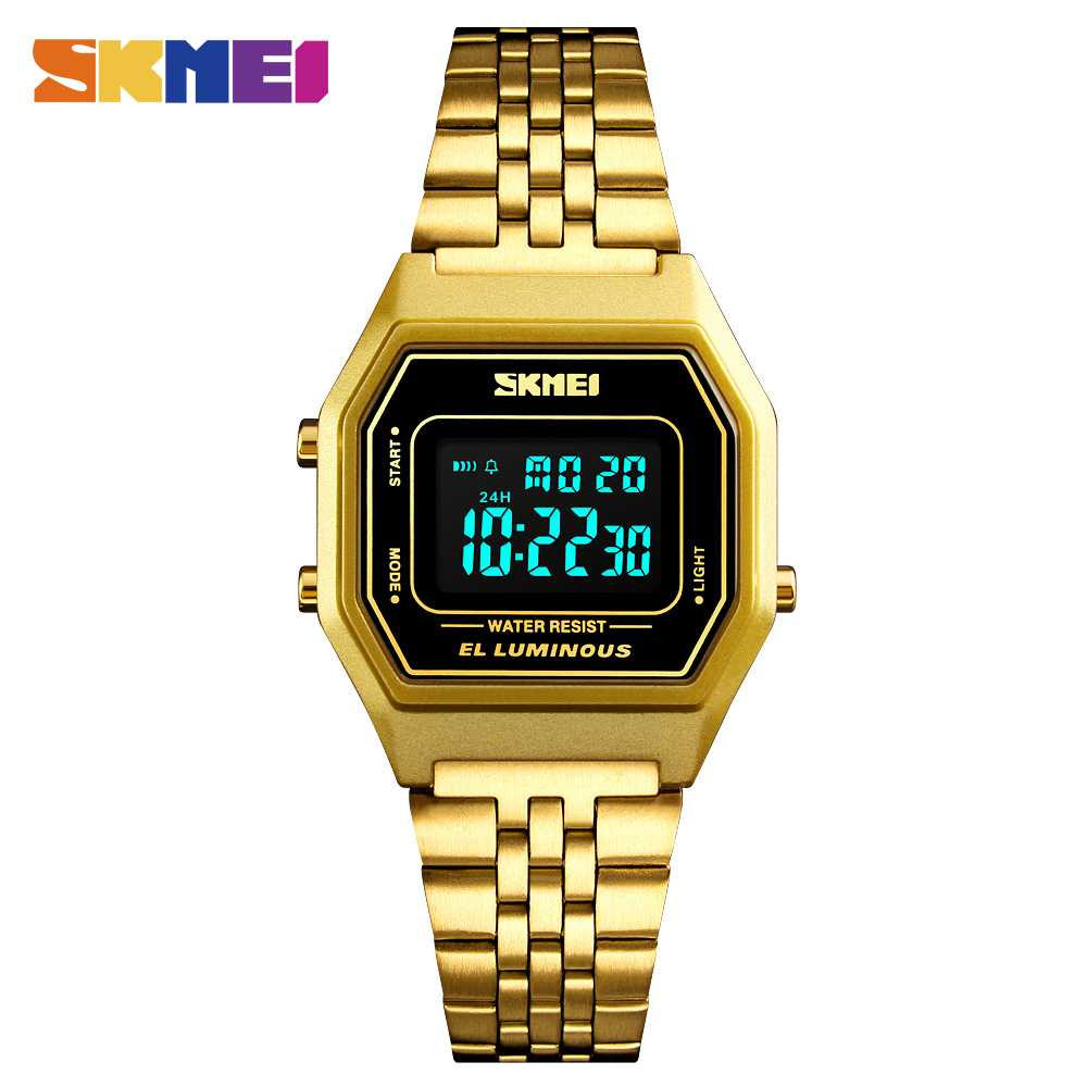 Jam Tangan Pria SKMEI Digital Casual Men Stainless Strap Original DG1345