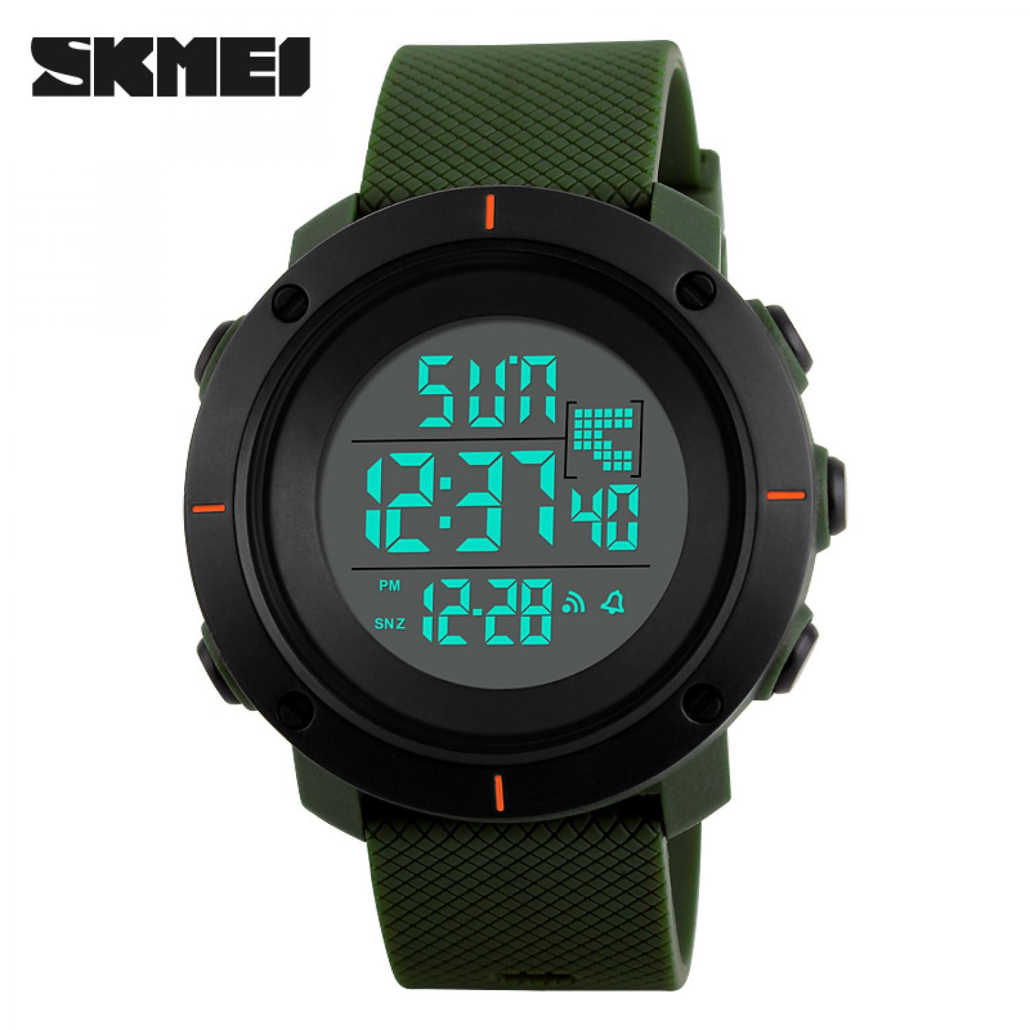 Jam Tangan Pria SKMEI Digital Casual Men Watch Original DG1213 Hijau