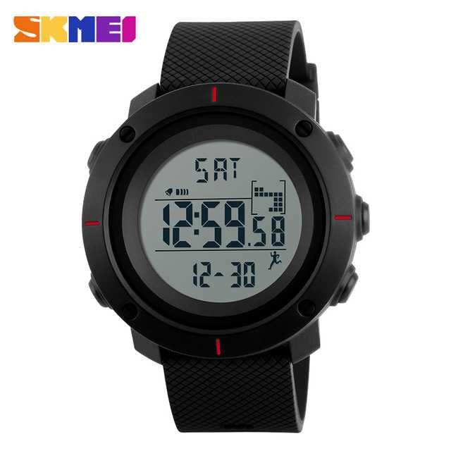 Jam Tangan Pria Digital Original SKMEI DG1215S Merah