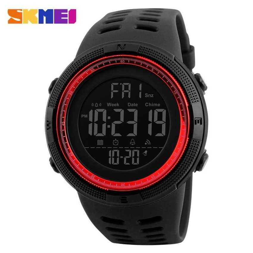 Jam Tangan Pria SKMEI Digital Casual Men Watch Original DG1251 Merah