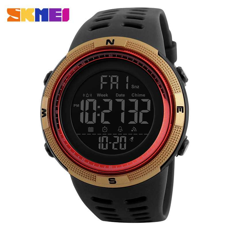 Jam Tangan Pria SKMEI Digital Casual Men Watch Original DG1251 Emas