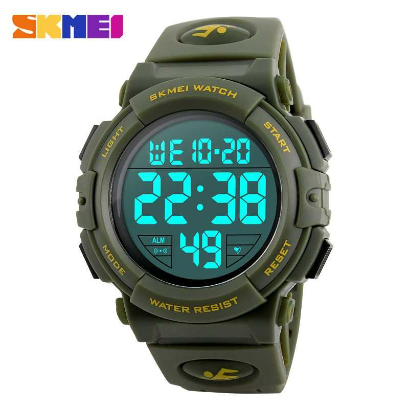 Jam Tangan Pria SKMEI Digital Casual Men Watch Original DG1258 Hijau