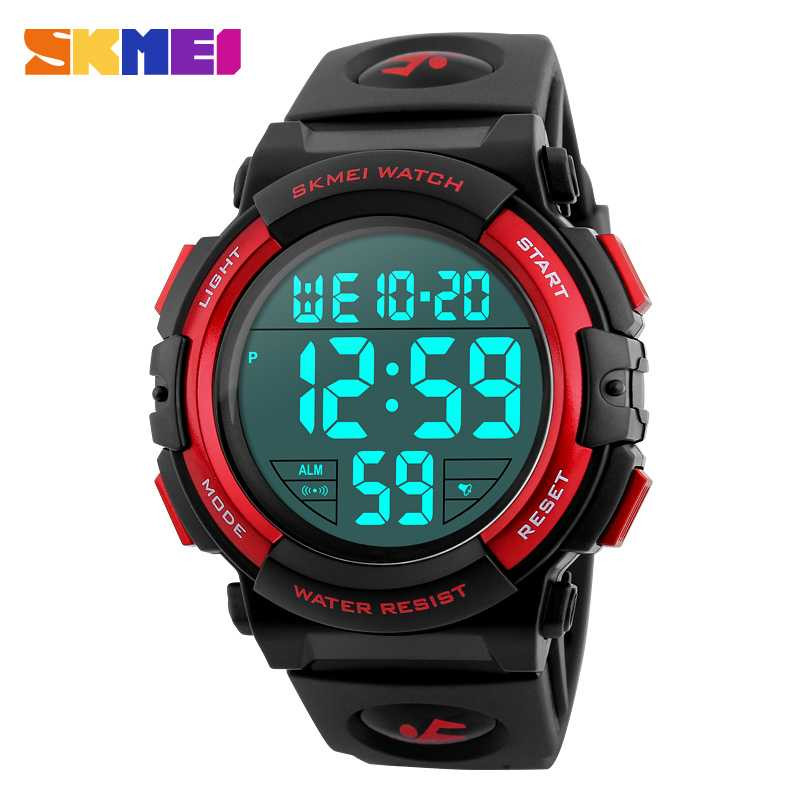 Jam Tangan Pria SKMEI Digital Casual Men Watch Original DG1258 Merah