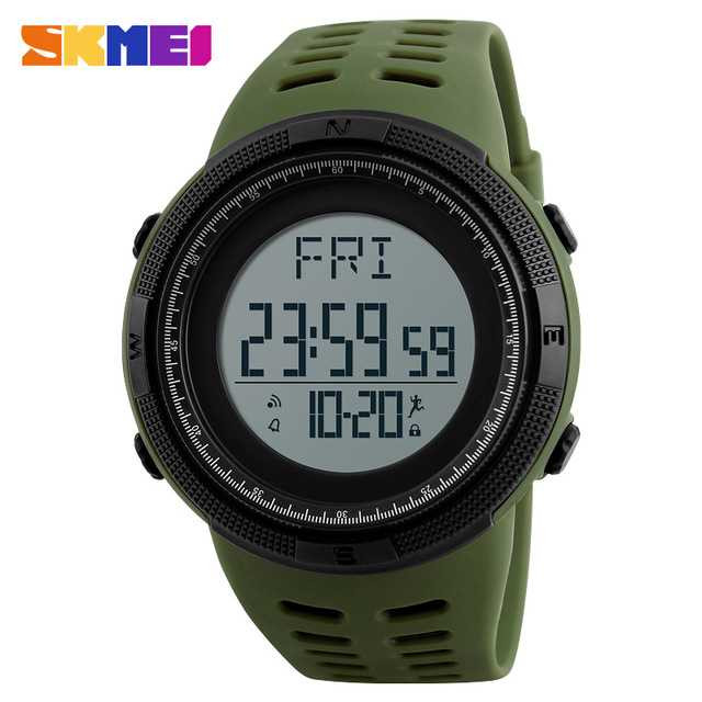 Jam Tangan Pria SKMEI Digital Casual Men Watch Original DG1295 Hijau