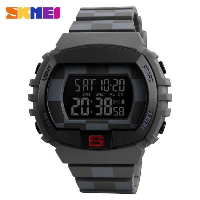 Jam Tangan Pria SKMEI Digital Casual Men Watch Original DG1304 Gray