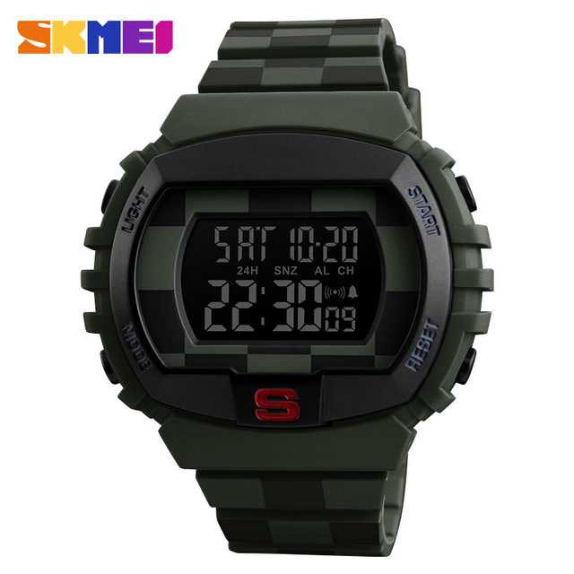 Jam Tangan Pria SKMEI Digital Casual Men Watch Original DG1304 Hijau