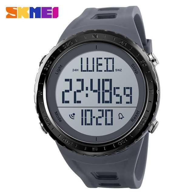 Jam Tangan Pria SKMEI Digital Casual Men Watch Original DG1310 Gray