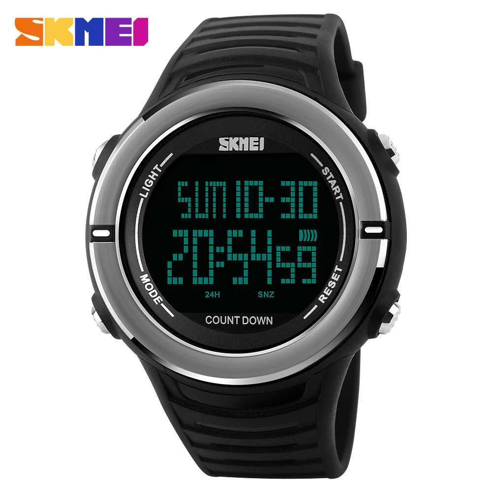 Jam Tangan Pria SKMEI Digital Casual Sporty LED Original 1209