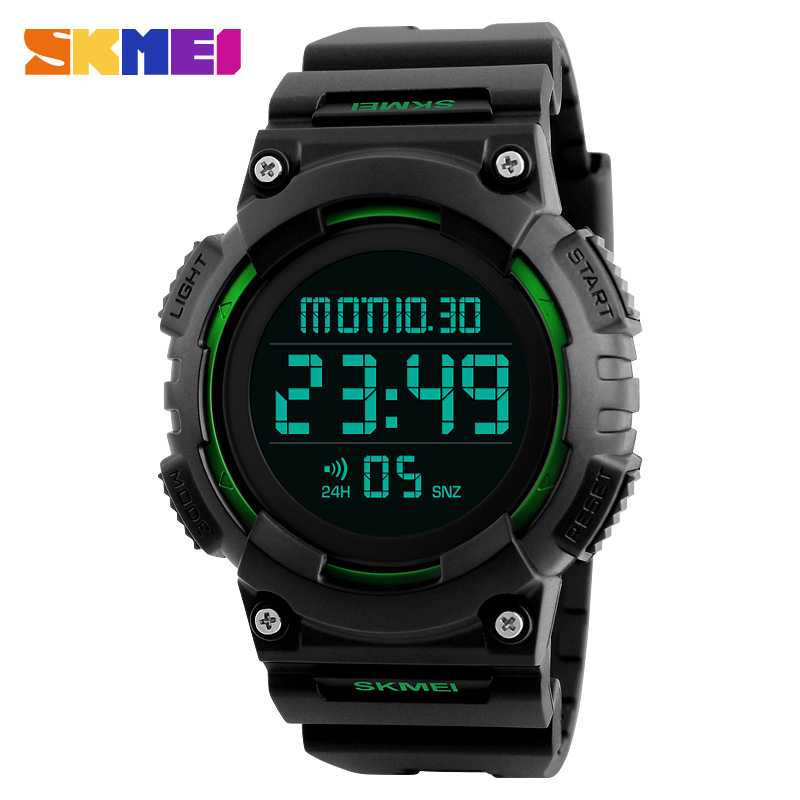 Jam Tangan Pria SKMEI Digital Casual Sporty LED Original DG1248 Hijau