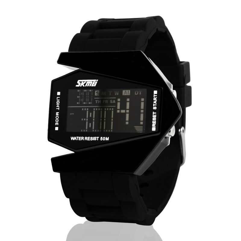 Jam Tangan Pria SKMEI Digital Casual Unisex LED Original 0817B