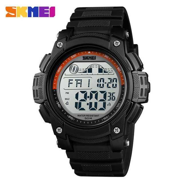 Jam Tangan Pria SKMEI Digital Military Sport Watch Original DG1372 Orange