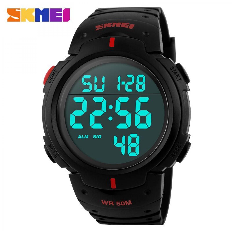 Jam Tangan Pria SKMEI Digital Pioneer Sport Watch Original DG1068 Merah