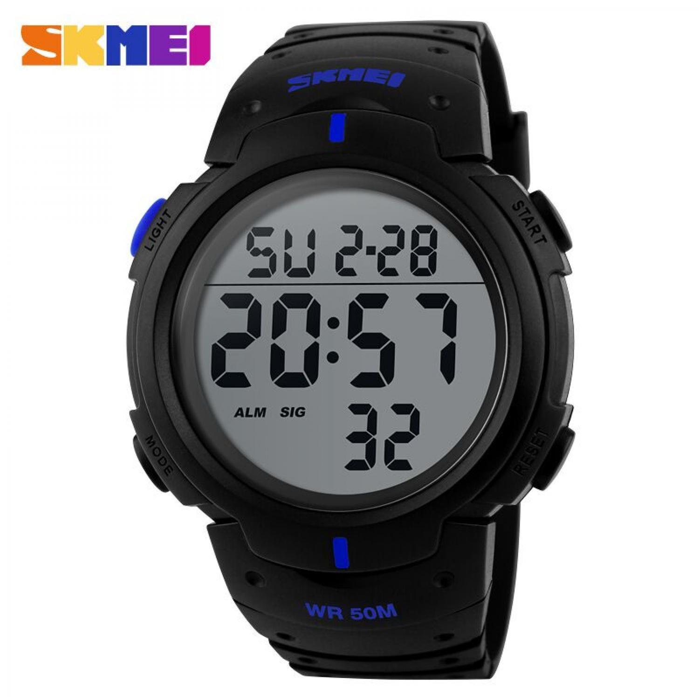 Jam Tangan Pria SKMEI Digital Pioneer Sport Watch Original DG1068 Biru