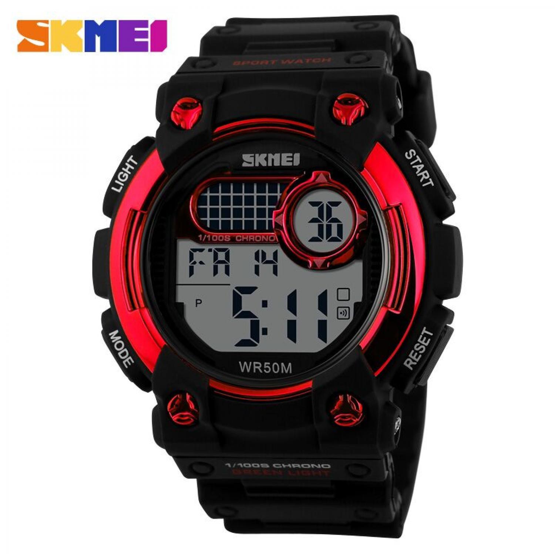 Jam Tangan Pria SKMEI Digital S-Shock Militer Sport Original DG1054 Merah