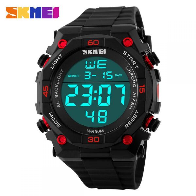 Jam Tangan Pria SKMEI Digital S-Shock Militer Sport Original DG1130 Merah