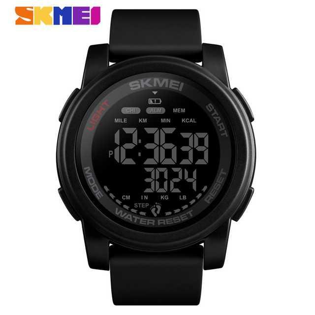 Jam Tangan Pria SKMEI Digital S-Shock Pedometer Kalori Sport Original DG1469