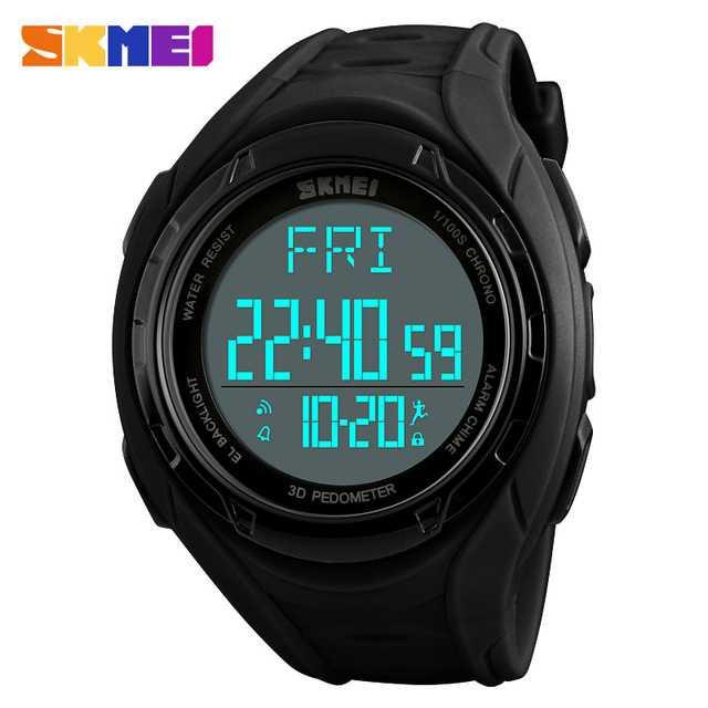 Jam Tangan Pria SKMEI Digital S-Shock Pedometer Sport Original DG1315