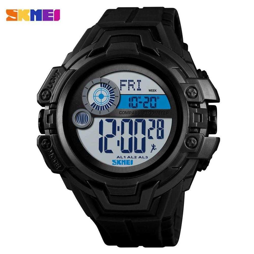Jam Tangan Pria SKMEI Digital S-Shock Pedometer Sport Original DG1447